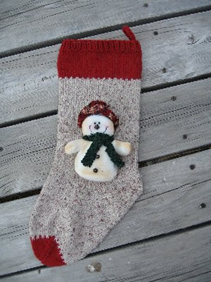 snowman stocking, stocking, christmas stocking