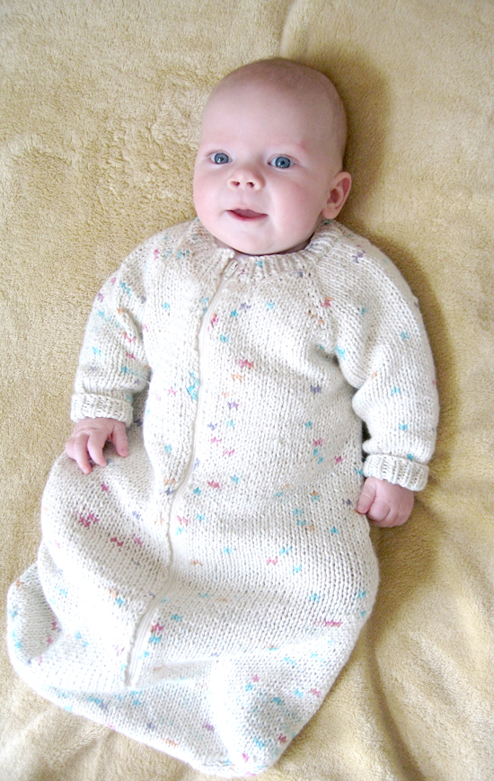 Free Crochet Pattern Baby Sleeping Bag : # 103 Baby Sleeping Bag Knitting Pure And Simple