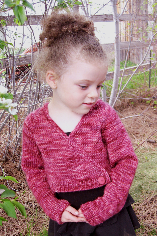 Children s Cardigan Knitting Patterns : # 109 Girl s Ballet Cardigan Knitting Pure And Simple