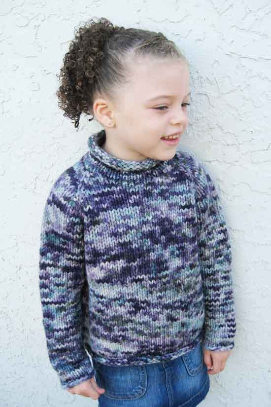 112 Children\'s Bulky Top Down Pullover | Knitting Pure And Simple