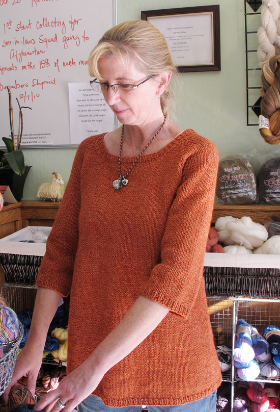 115 Top Down Swing Pullover Knitting Pure And Simple