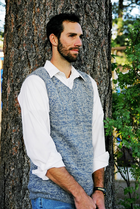 Knitting Pattern Central Men s Vests : # 215 Basic Vest for Men Knitting Pure And Simple