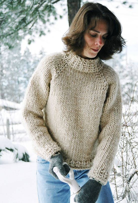 Knitting Patterns For Larger Ladies : # 224 Weekend Neck Down Pullover Knitting Pure And Simple