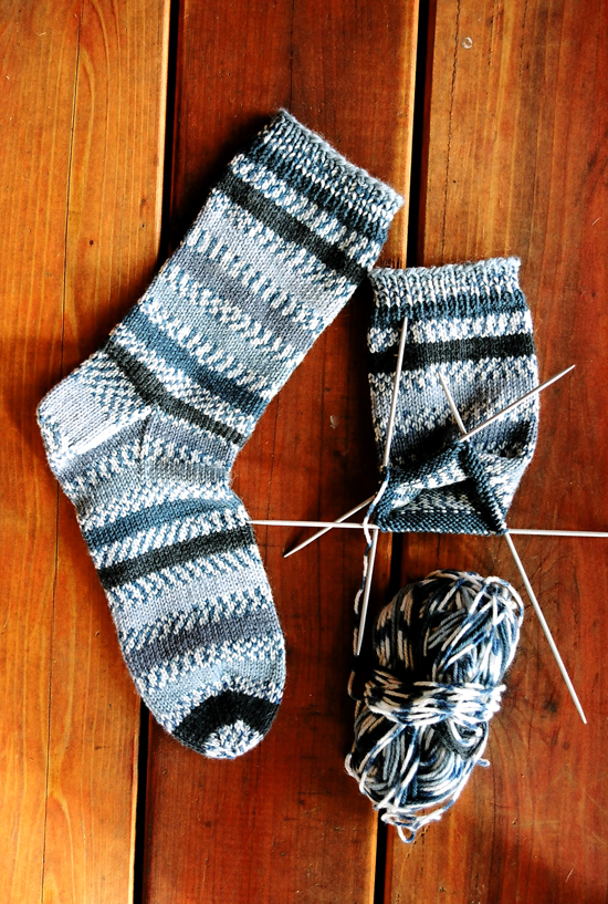 Sock Knitting Pattern For Beginners : # 242 Beginner Mid Weight Socks Knitting Pure And Simple