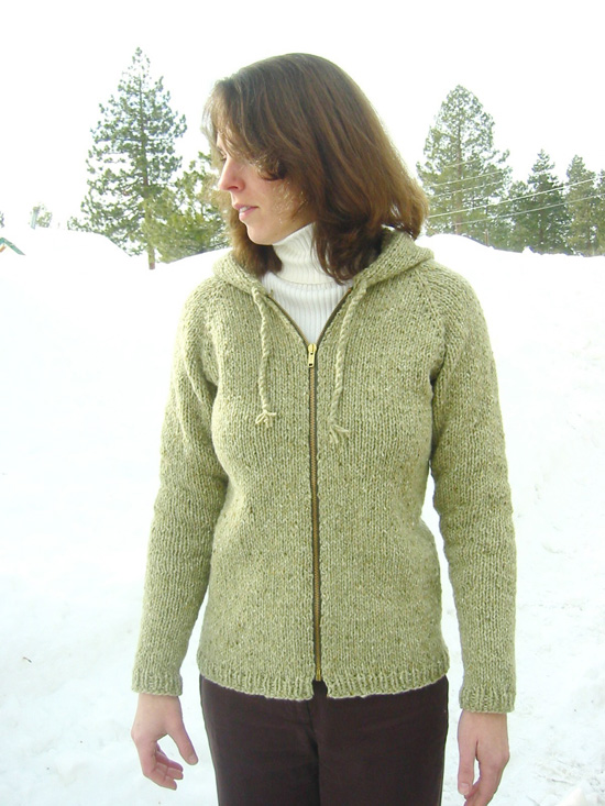 Bulky Sweater Knitting Patterns : # 252 Neck Down Bulky Cardigan for Women Knitting Pure And Simple