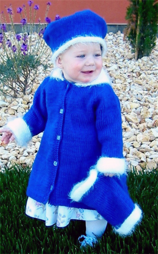 254 Little Girls Dress Coat Set Knitting Pure And Simple