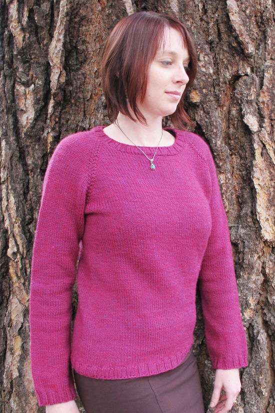 Knitting Sweater Patterns For Women : # 265 Neck Down Mid Weight Pullover for Women Knitting Pure And Simple