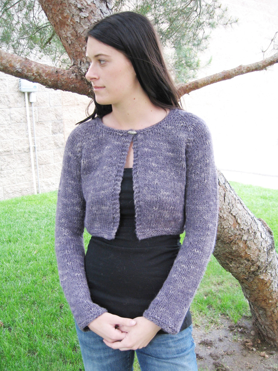 # 267 Neck Down Bulky Bolero Knitting Pure And Simple