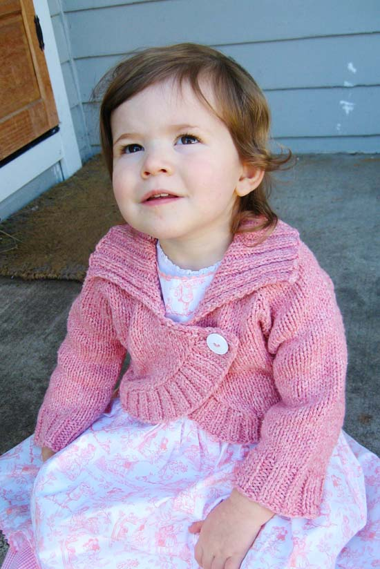 # 275 Children s Neck Down Bolero Knitting Pure And Simple