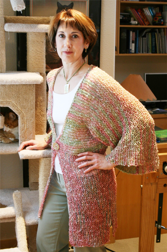 Knitting Pattern For Kimono Cardigan : # 282 Kimono Style Cardigan Knitting Pure And Simple