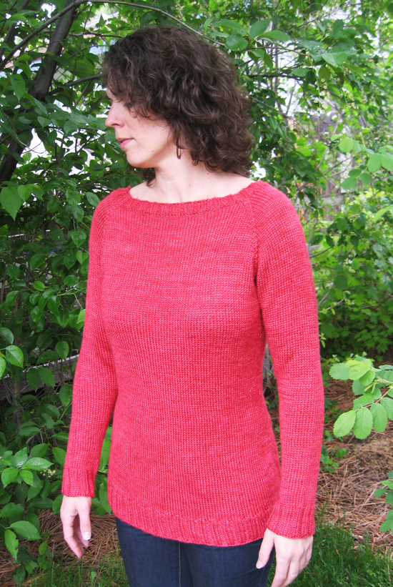 # 2911 Neck Down Boatneck Pullover Knitting Pure And Simple