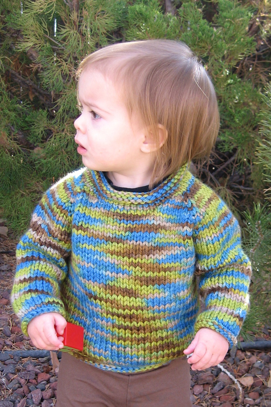 Pure And Simple Knitting Patterns : # 295 Bulky Baby Pullover Knitting Pure And Simple