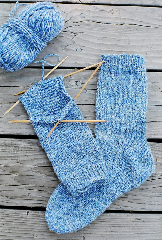 Knitting Pattern For Basic Socks : # 9728 Beginner Socks Knitting Pure And Simple