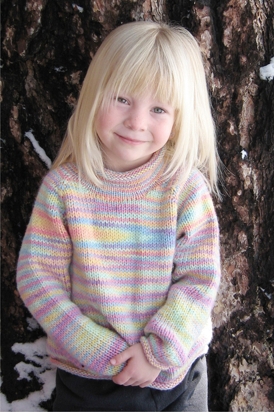 Free Knitting Patterns For Children s Pullovers : # 9730 Children s Neck Down Pullover Knitting Pure And Simple