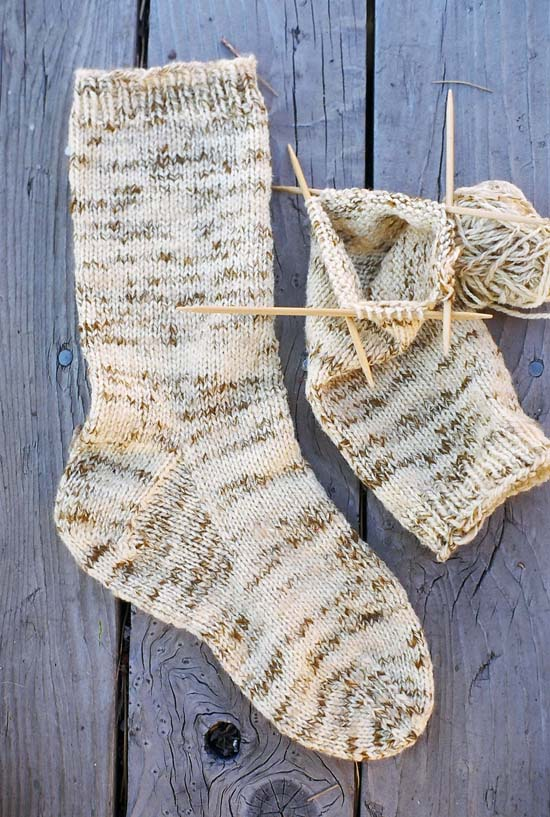 Boot Socks Knitting Pattern : # 998 Men s Heavy Weight Boot Sock Knitting Pure And Simple