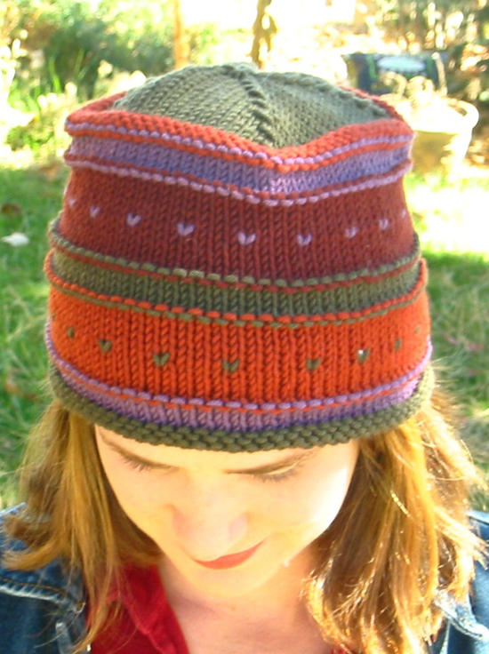 Free Knitting Patterns For Hats In The Round : Simple Fair Isle Hat Knitting Pure And Simple