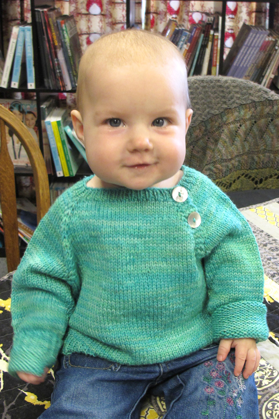 Free Knitting Patterns For Children s Pullovers : # 1210   Button Front Baby Pullover Knitting Pure And Simple
