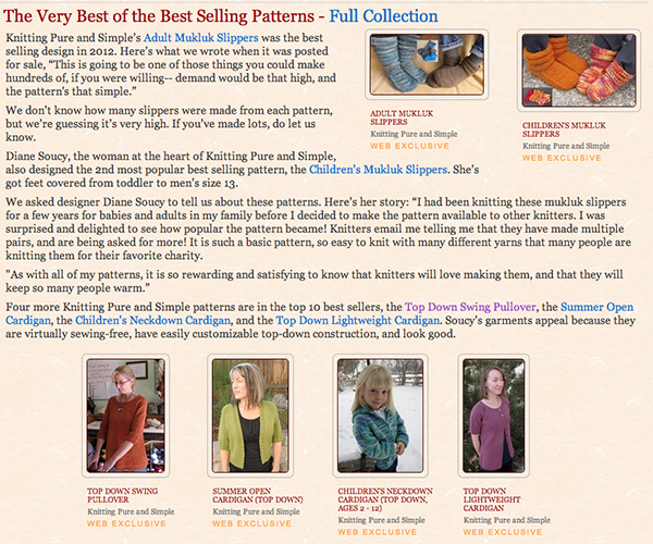 Knitting Pure And Simple Pattern Errata : Top Pattern Seller At Patternfish Knitting Pure And Simple