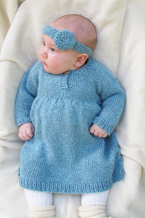 # 1403 Baby Dress Knitting Pure And Simple