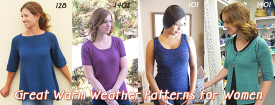 warm weather knitting patterns for women