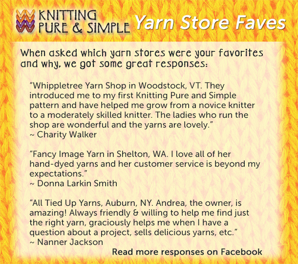 list of top and favorite yarn stores and shops from our knitting fans