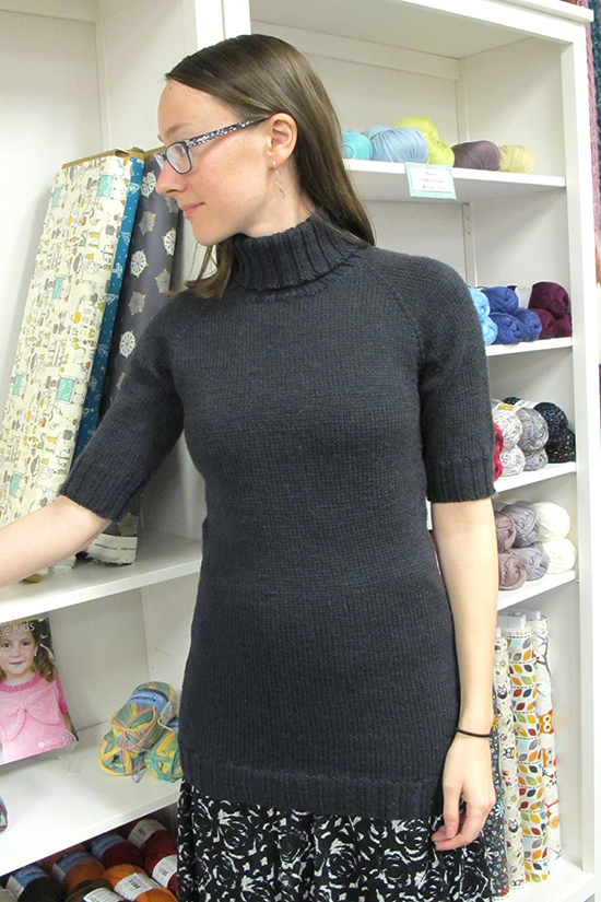 1404 Short Sleeved Turtleneck Pullover Knitting Pure And Simple