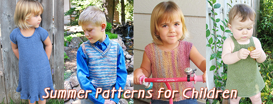 knit childrens patterns for summer
