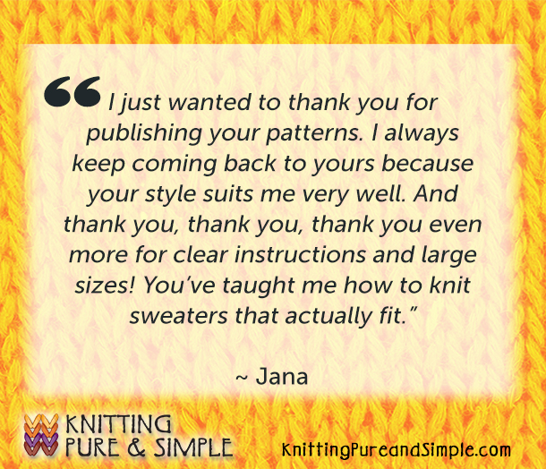knitting testimonials about best knitting designers and favorite knitting patterns