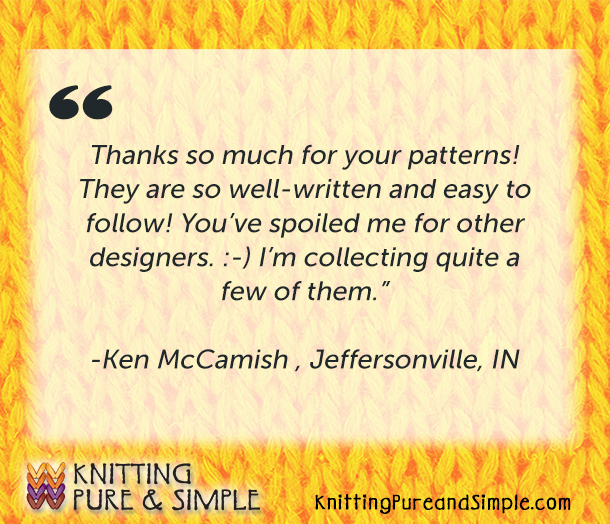 knitting testimonials about best knitting patterns and favorite knitting designers