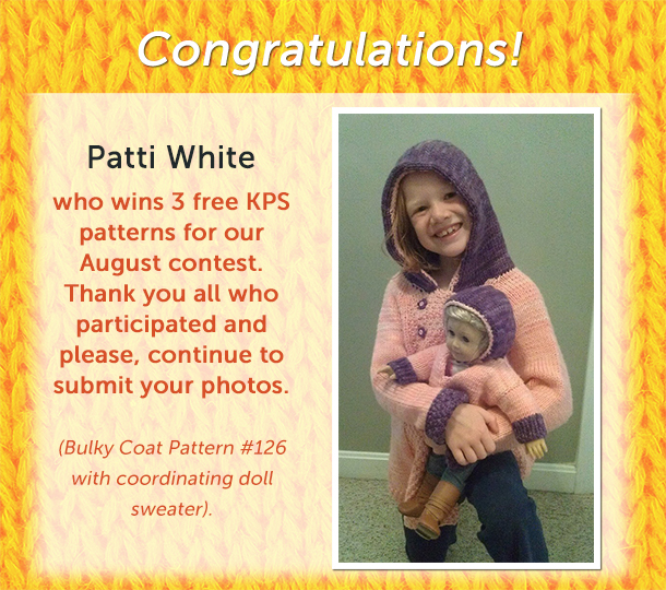 Knitting contest winner for August