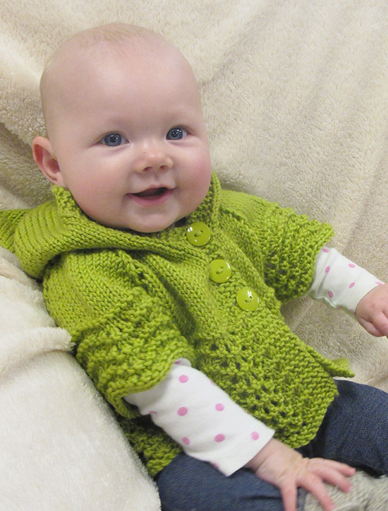 # 1505 Lacy Baby Hoodie Knitting Pure And Simple