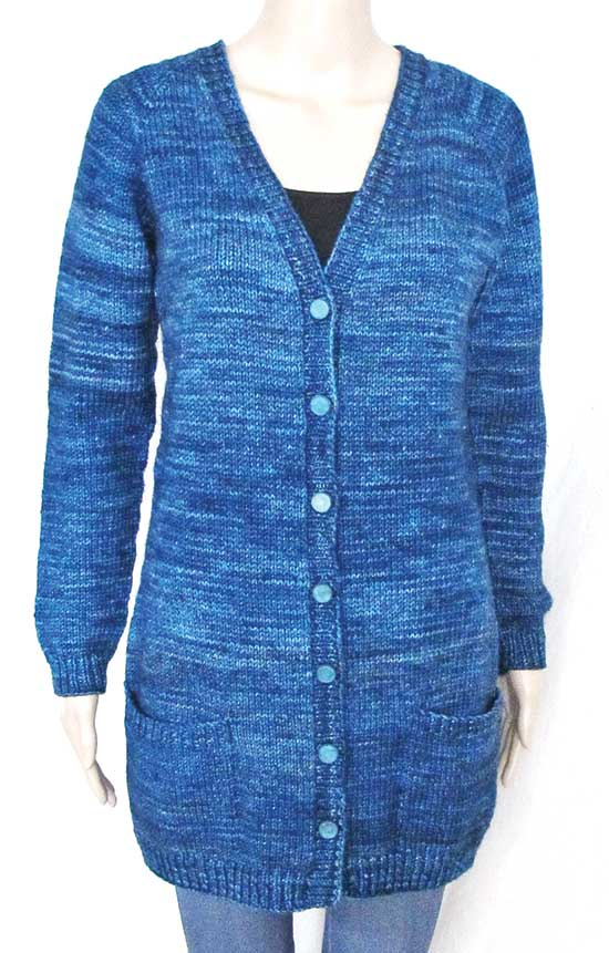 1609 V Neck Pocket Cardigan Knitting Pure And Simple