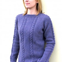 # 1305 Beginner Cable Pullover