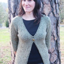 # 292 Neck Down One Button Cardigan