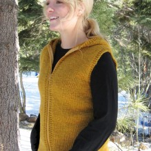# 272 Bulky Hooded Vest for Women
