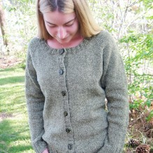 # 278 Neck Down Scoop Neck Cardigan
