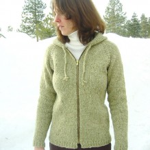 # 252 Neck Down Bulky Cardigan for Women