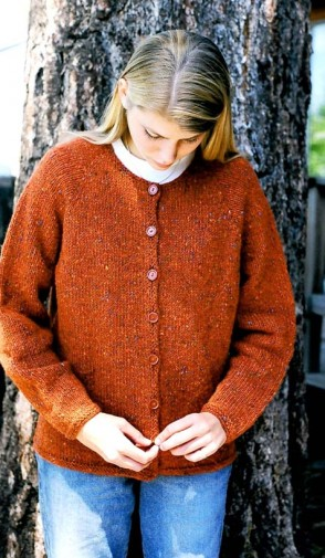 9725 Neck Down Cardigan For Women Knitting Pure And Simple