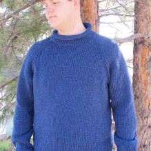 # 1110 Bulky Top Down Pullover for Men