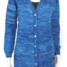 # 1609 V neck Pocket Cardigan