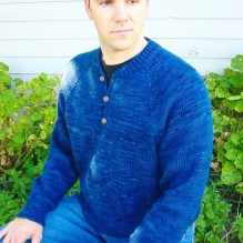 # 255 Henley Neck Down Pullover for Men