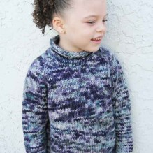 # 112 Children's Bulky Top Down Pullover