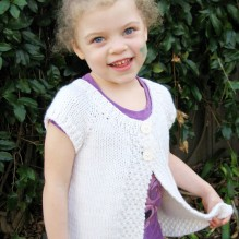 # 106 Girl's Cap Sleeve Cardigan Vest
