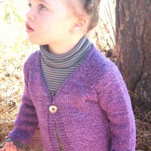 # 296 Girl's One Button Cardigan