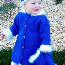# 254 Little Girl's Dress Coat Set