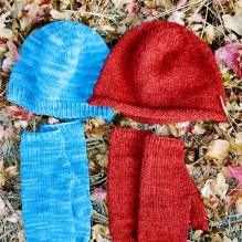 # 223 Basic Hat and Mitten Set  for Women