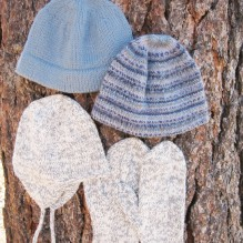 # 273 Basic Hat and Mitten Set for Men